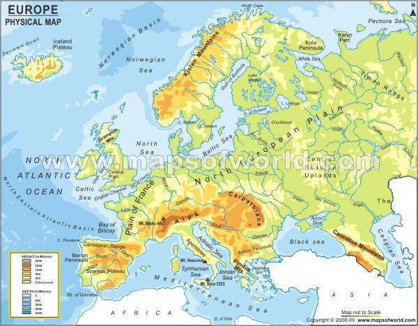 Europe Physical Map ThingLink - Europe physical map