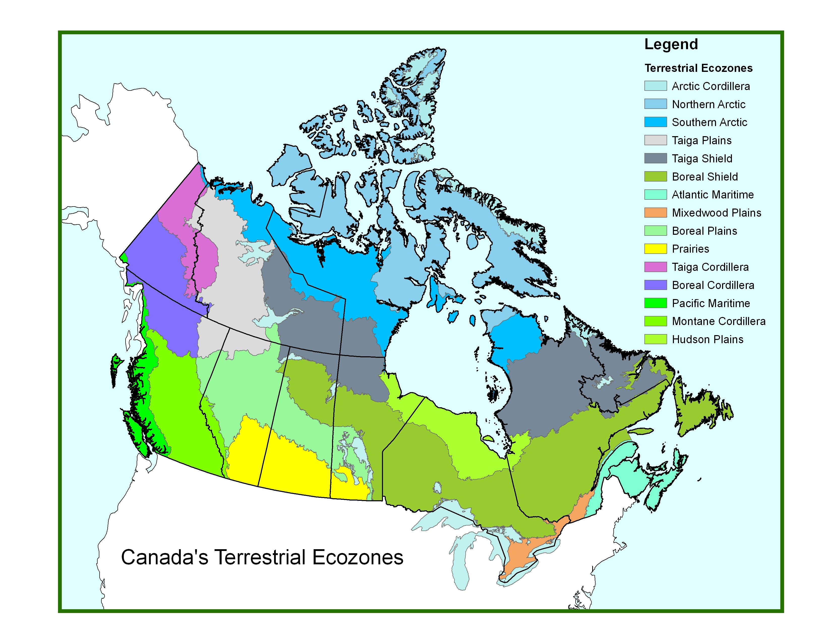 Water Bodies Of Canada Map.Canadian Issues Thinglink Map