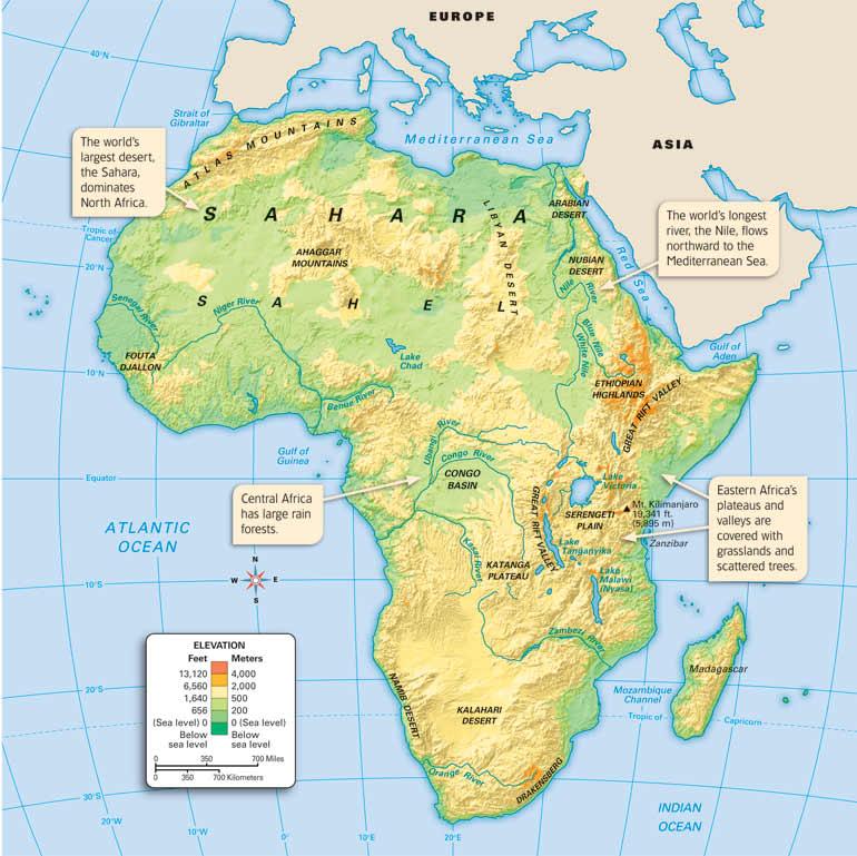 Map Of Africa Sahara Desert | Jackenjuul