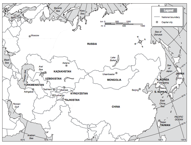 Physical Features of Northern Asia