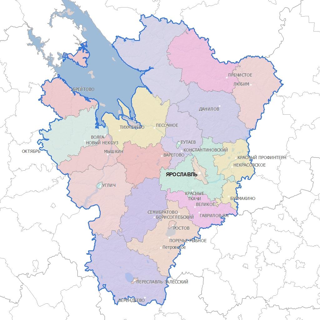 область карте фото на ярославская