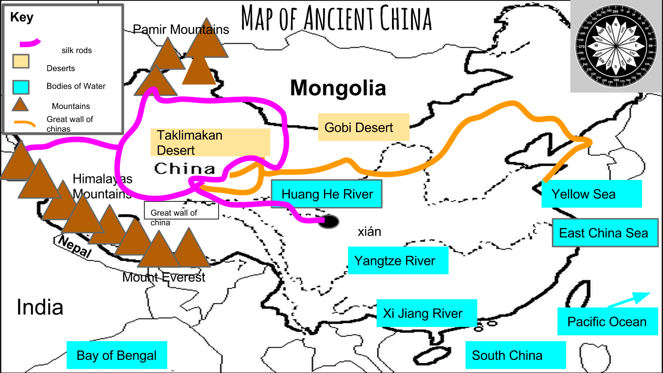 Image of: Remix Of Map Of Ancient China