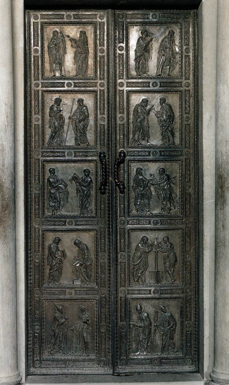 Door of the Apostles, Donatello - ThingLink