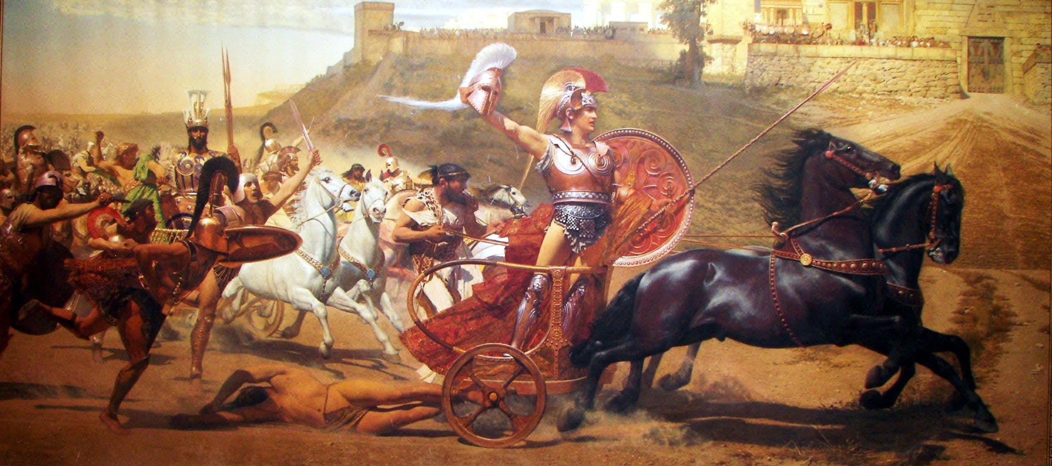 achilles and the trojan war Achilles fought on the greek's side, not the trojan's no, archilles was not a trojan, nor was he a greek he lived on the island of crete with his mother, and crete was a nuertal territory although in the movie with brad pitt and orlando bloom he may have at the end tried to help save a trojan woman he himself was not one.