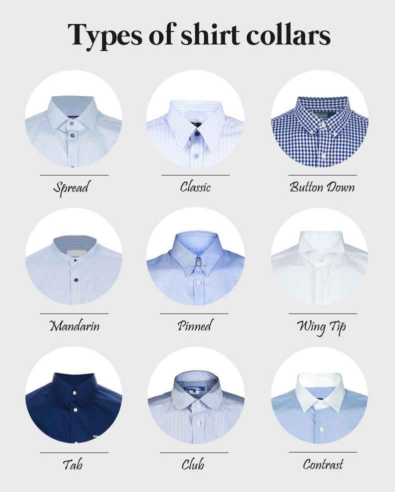 Types of shirt collars - ThingLink