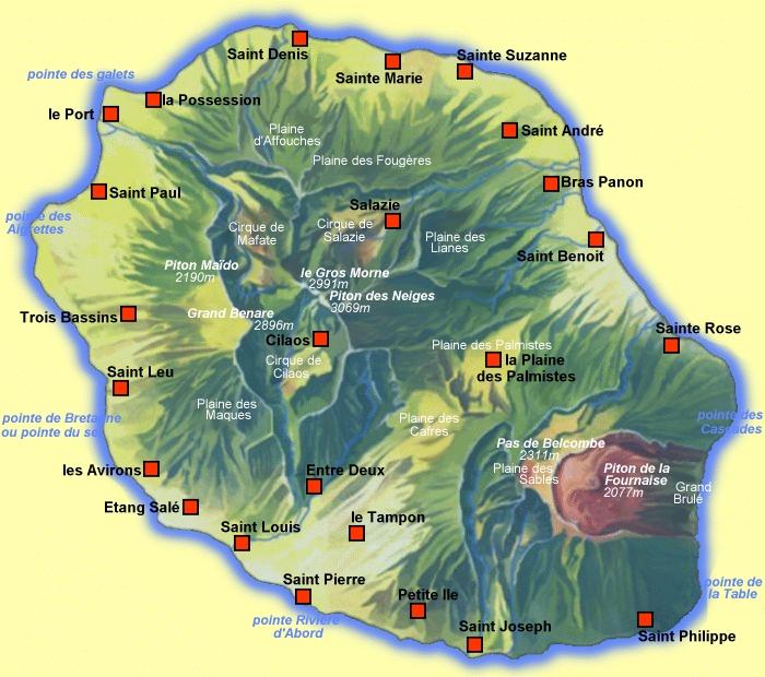 Capitale De L Ile De La Reunion Le Piton De La Fournais