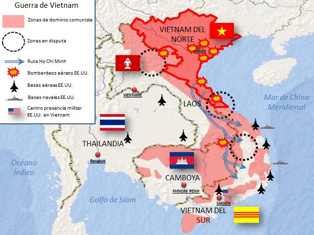 Guerra De Vietnam Mapa.Guerra De Vietnam