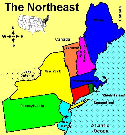 Vadhins Northeast Geography Project ThingLink - Us northern region map