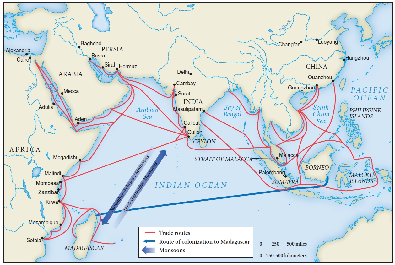 Indian Ocean Trade Route - ThingLink