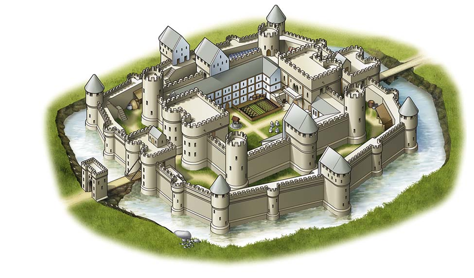 Medieval Castle Thinglink ThingLink - Diagram of medieval castle layout