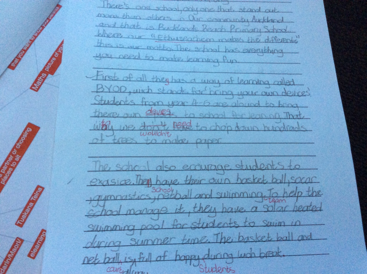 Creative writing exemplars