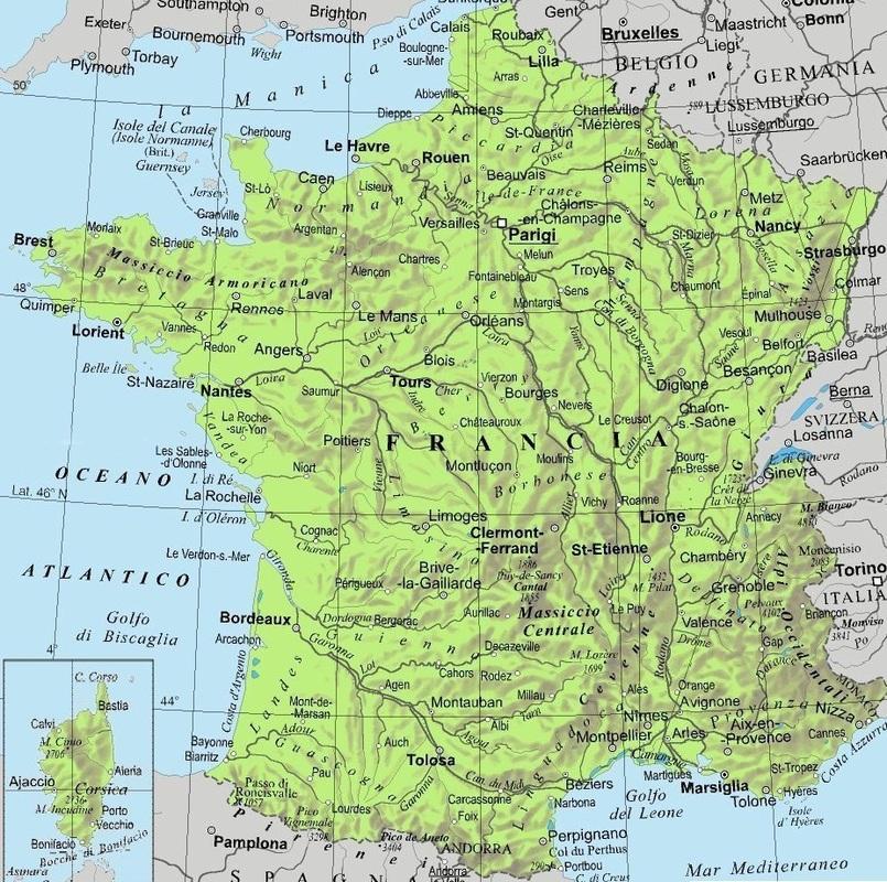 Cartina Francia Tolosa.La Francia Di Vittoria Cecere