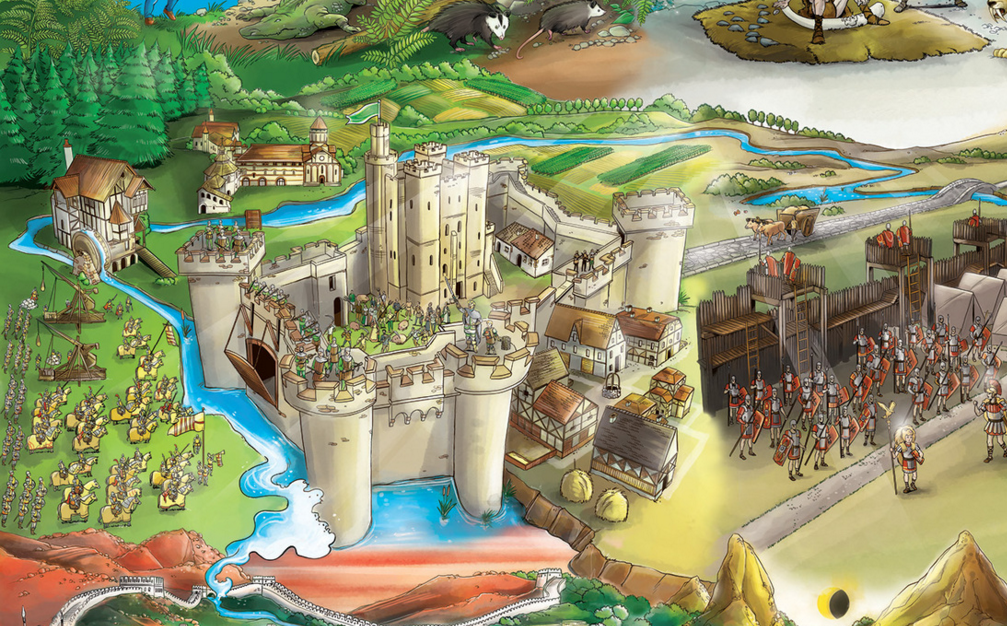 a creative story about preparations at the medieval castle
