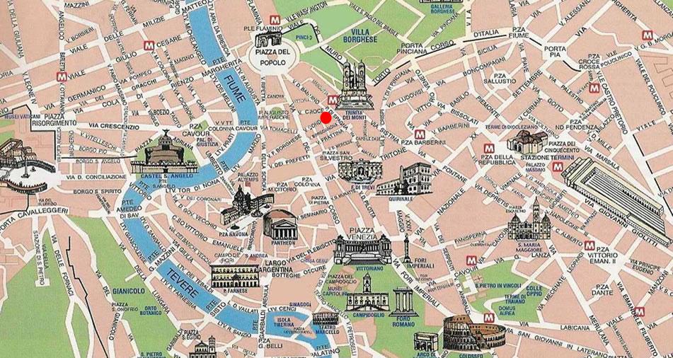 Cartina Roma Piazza Navona.Mappa Roma