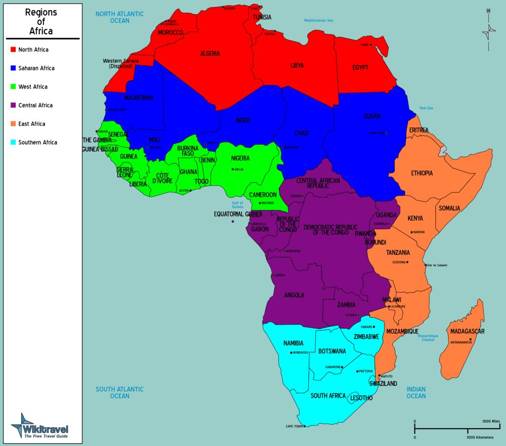 Africas Regions ThingLink - Regions of africa