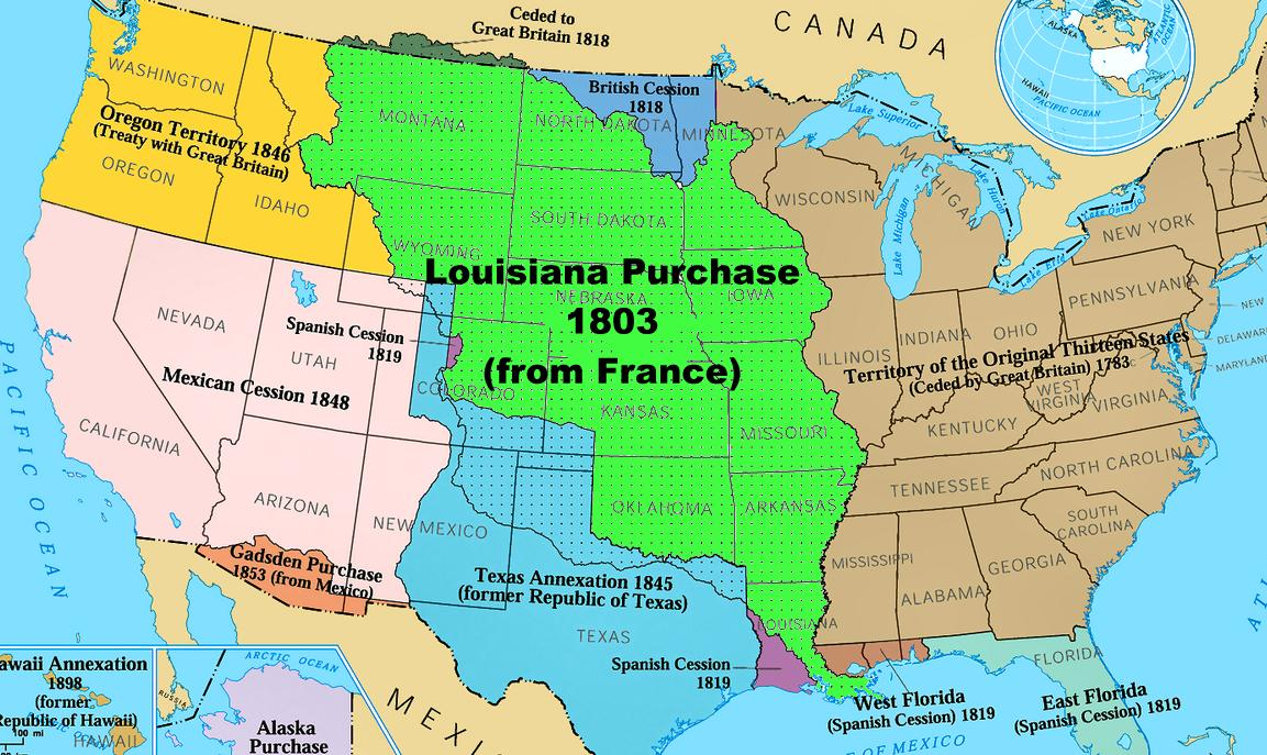 United States Map Louisiana Purchase MAP - Map of us after louisiana purchase