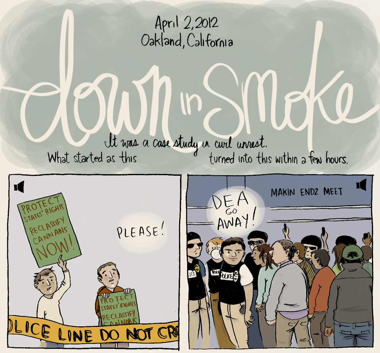 "Future comics: Susie Cagle's ""Down in Smoke"""