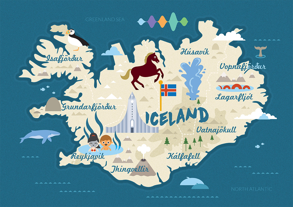 Iceland Map From Zach And Tanner ThingLink - Iceland map