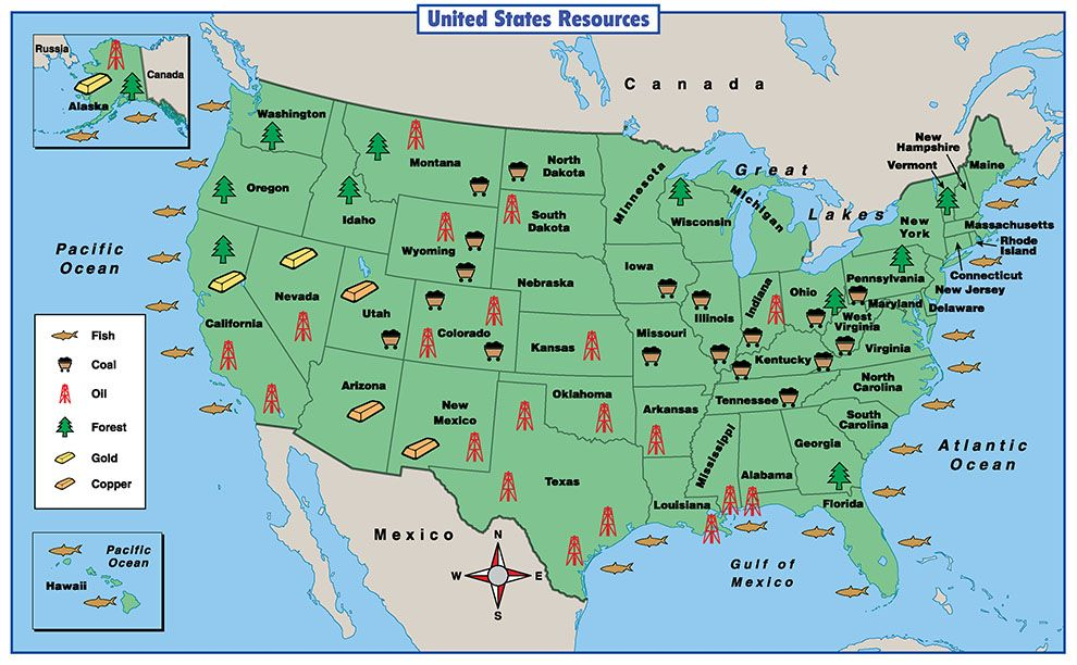 Natural Resources Map