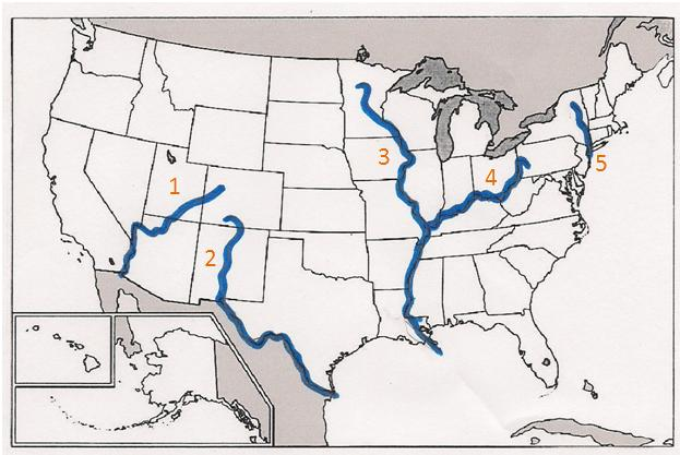 US MAJOR RIVERS ThingLink - What are the major rivers