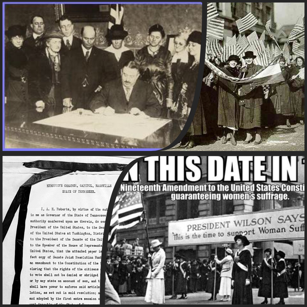 1920 The 19th Amendment Gives Women Right To Vote