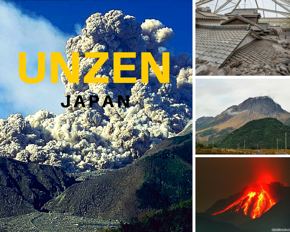 Mount Unzen In Japan Also Part Of The Pacific Ring Of Fi