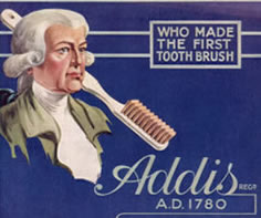 At 1780, the toothbrush was made by William Addis from en...