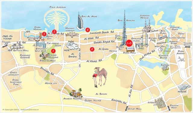 Dubai Map ThingLink
