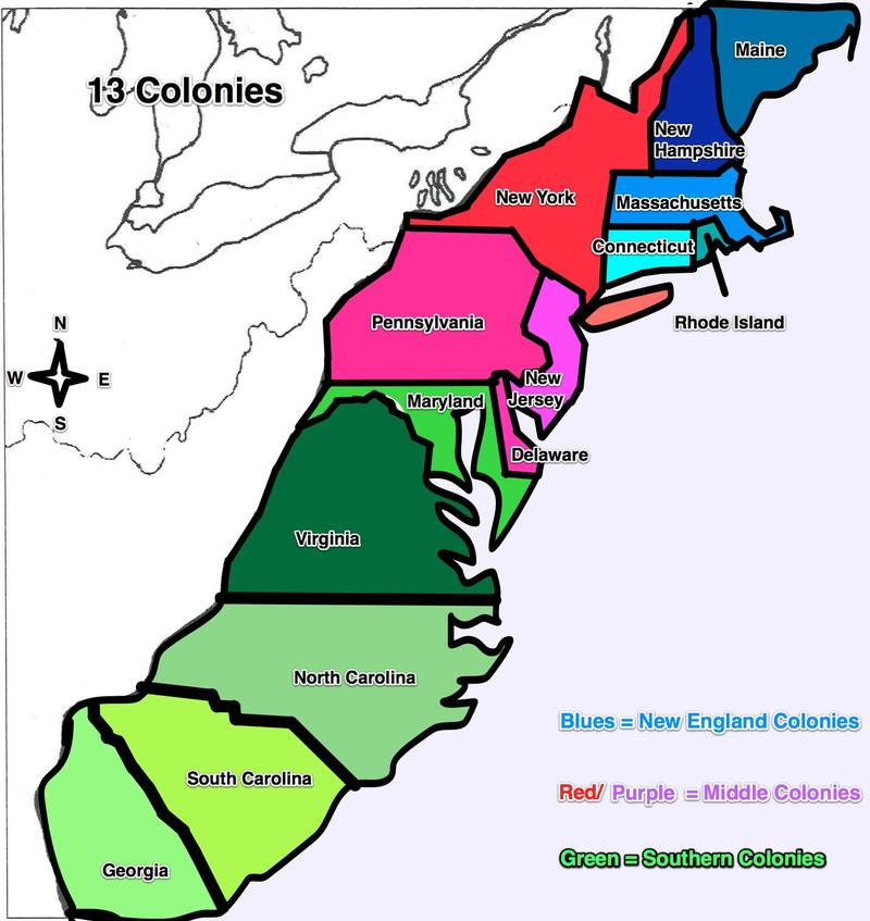 13 colonies Map  ThingLink
