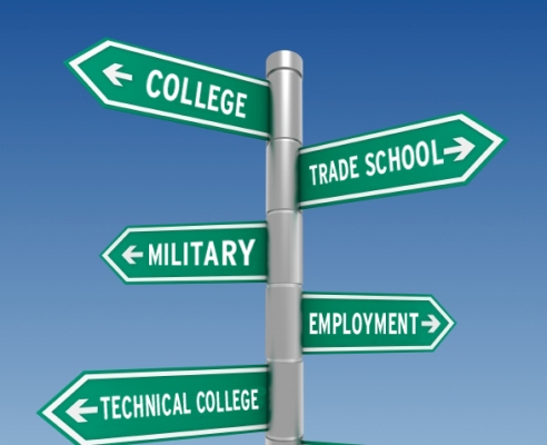 Click on the path you plan to take after high school. - ThingLink