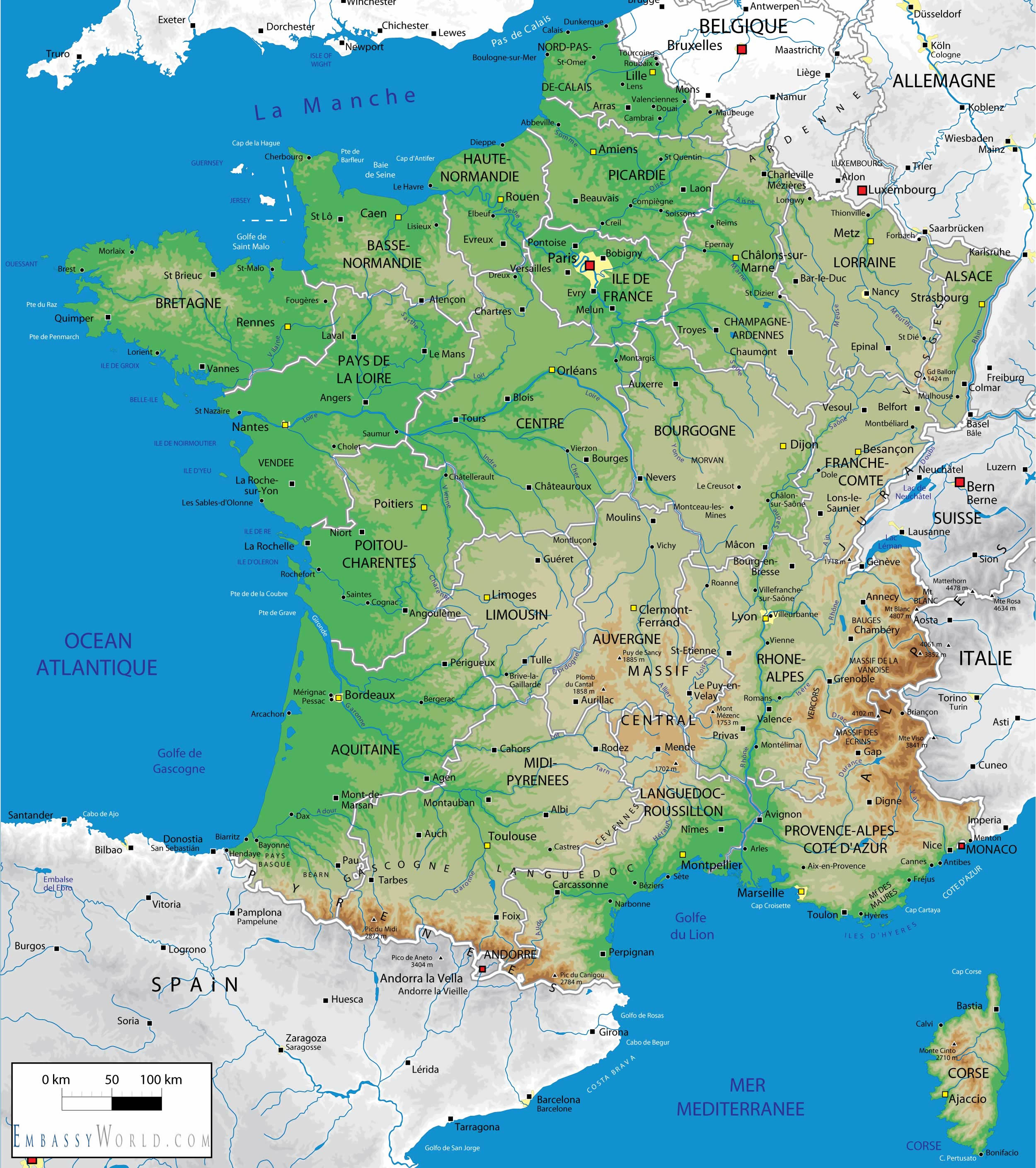 Cartina Fisico Politica Francia.Remix Of La Francia