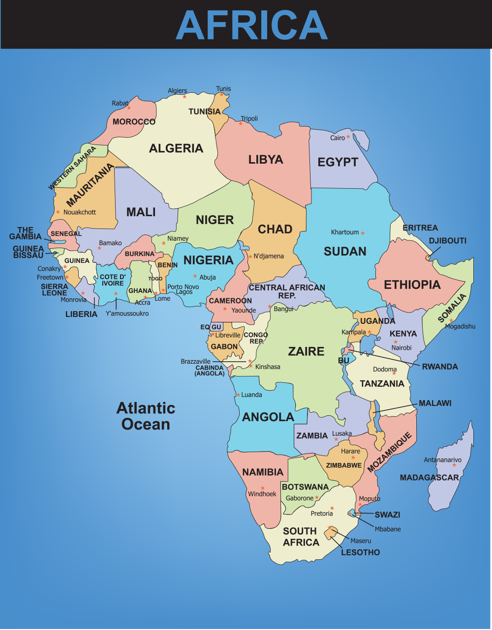 West Africa Performance Task ThingLink - Africa map with cities