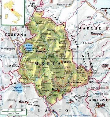 Cartina Umbria Geografica.L Umbria