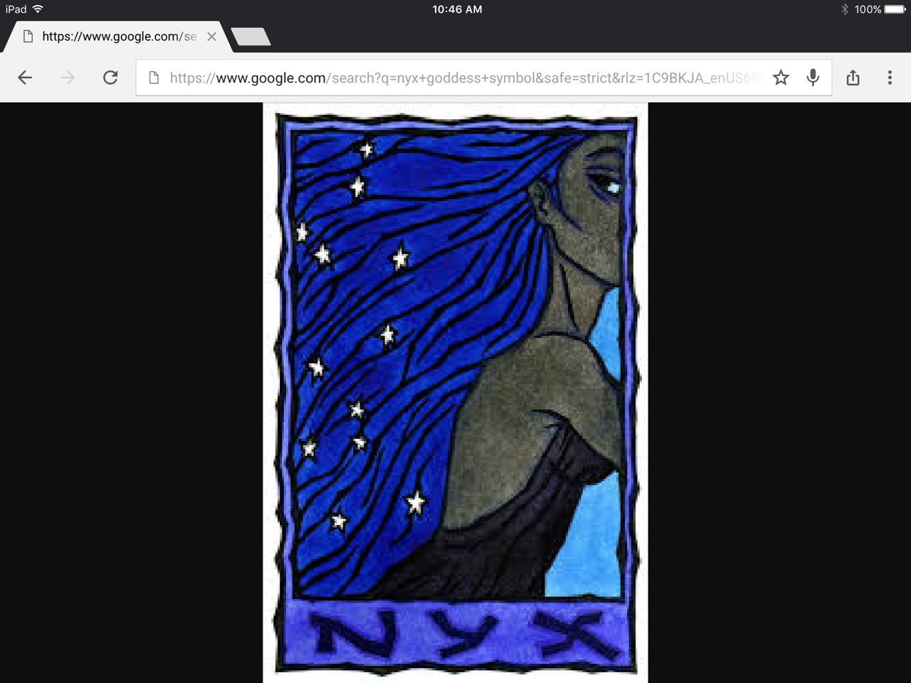 In this thinglink i am doing it on nyx the goddess of nig people said that she will sleep at night so they never new if they did that biocorpaavc