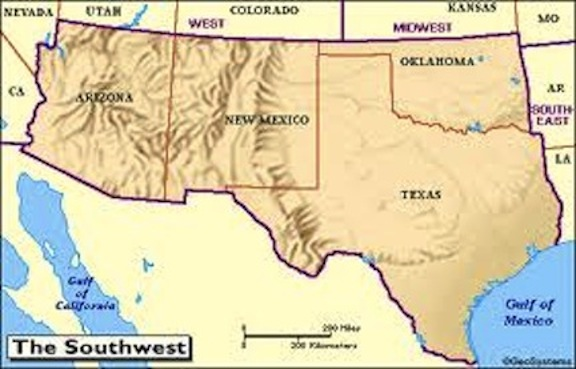 Southwest Region ThingLink - Map of south west us