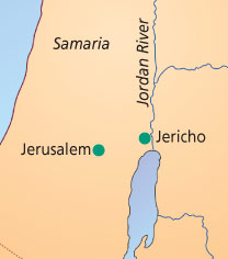 When Jesus healed the manhe was about here  Jerusalem i