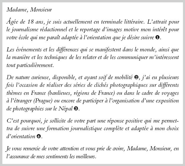 Ecole De Journalisme Lettre 2