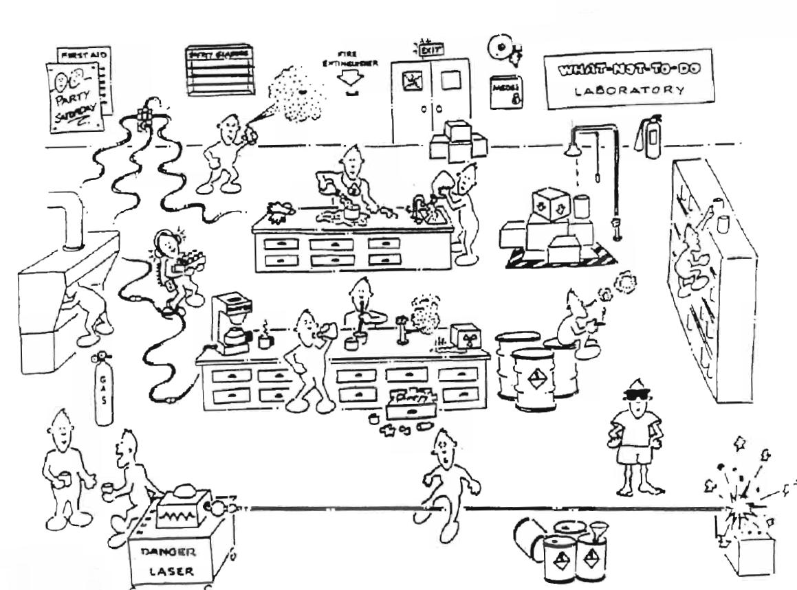 Worksheets Lab Safety Cartoon Worksheet lab safety