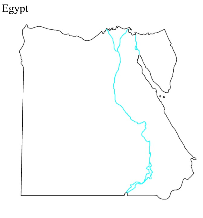 Ancient Egypt Map ThingLink - Unlabeled map of egypt