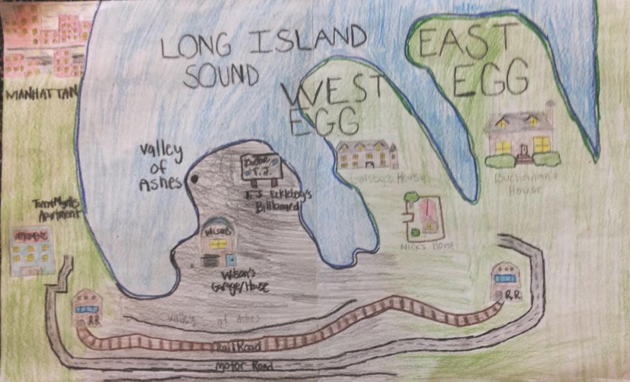 Map Of Gatsby Long Island