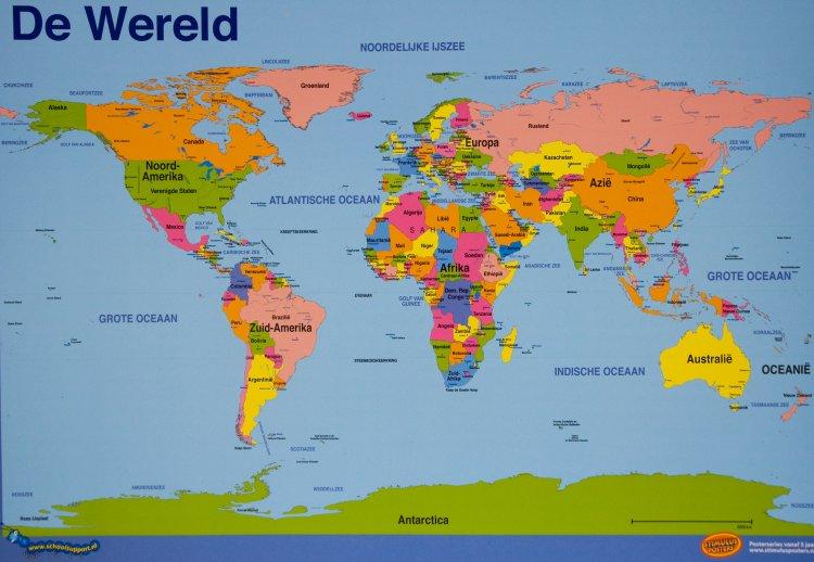 Kaart van de wereld digtotaal - Basket thuis van de wereld ...