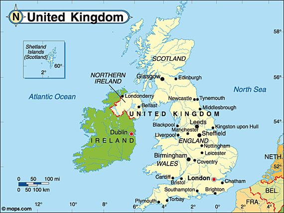 United Kingdom Is On The Continent Europe London Was Fo - Map ng united kingdom