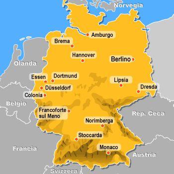 Immagini Cartina Geografica Germania.La Germania Di Vasco Zanti
