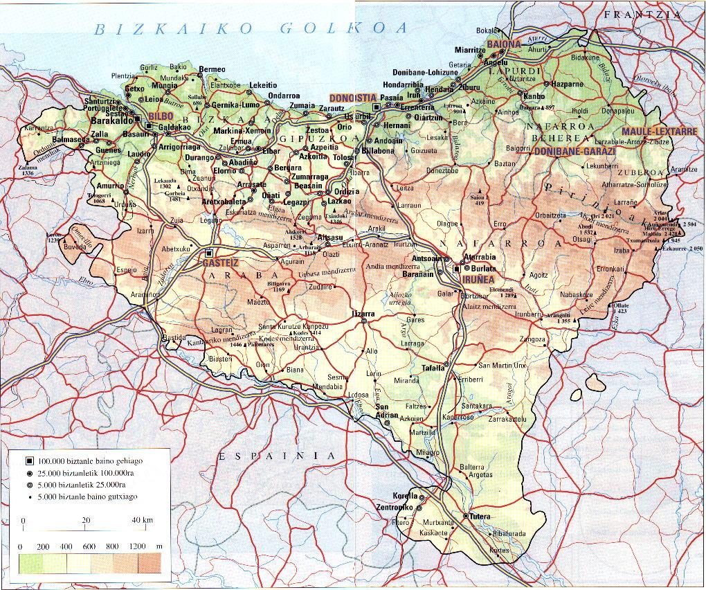 Mapa Euskal Herria Pueblos.My Interactive Image