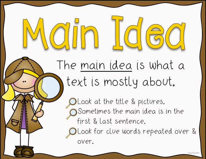 how to find main idea test