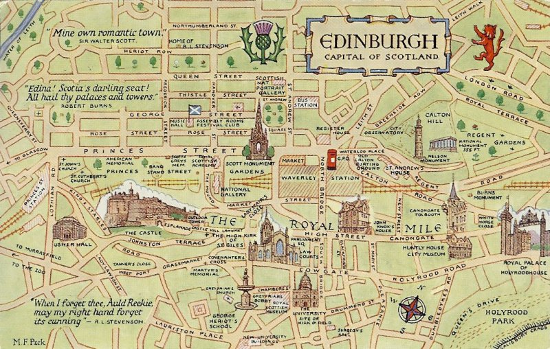 Edinburgh Map – Tourist Map Of Edinburgh