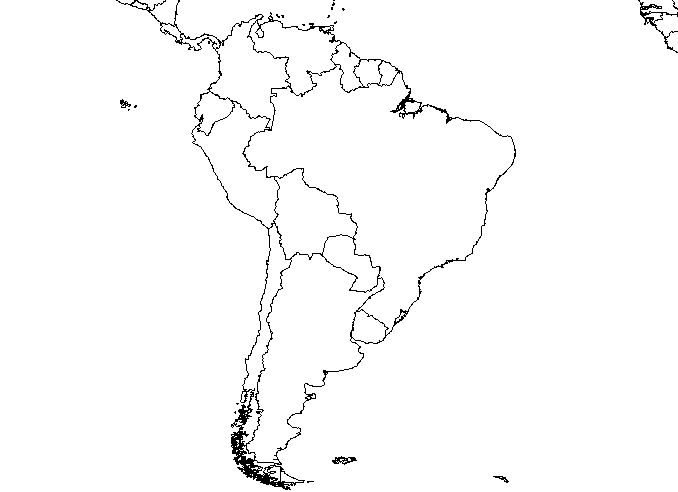 Argentina Uruguay Paraguay Brazil Bolivia Chile Per - Uruguay blank map
