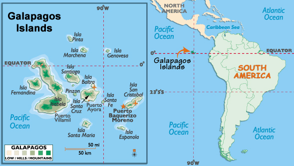 These Are The Galapagos Islands They Are Located Off The