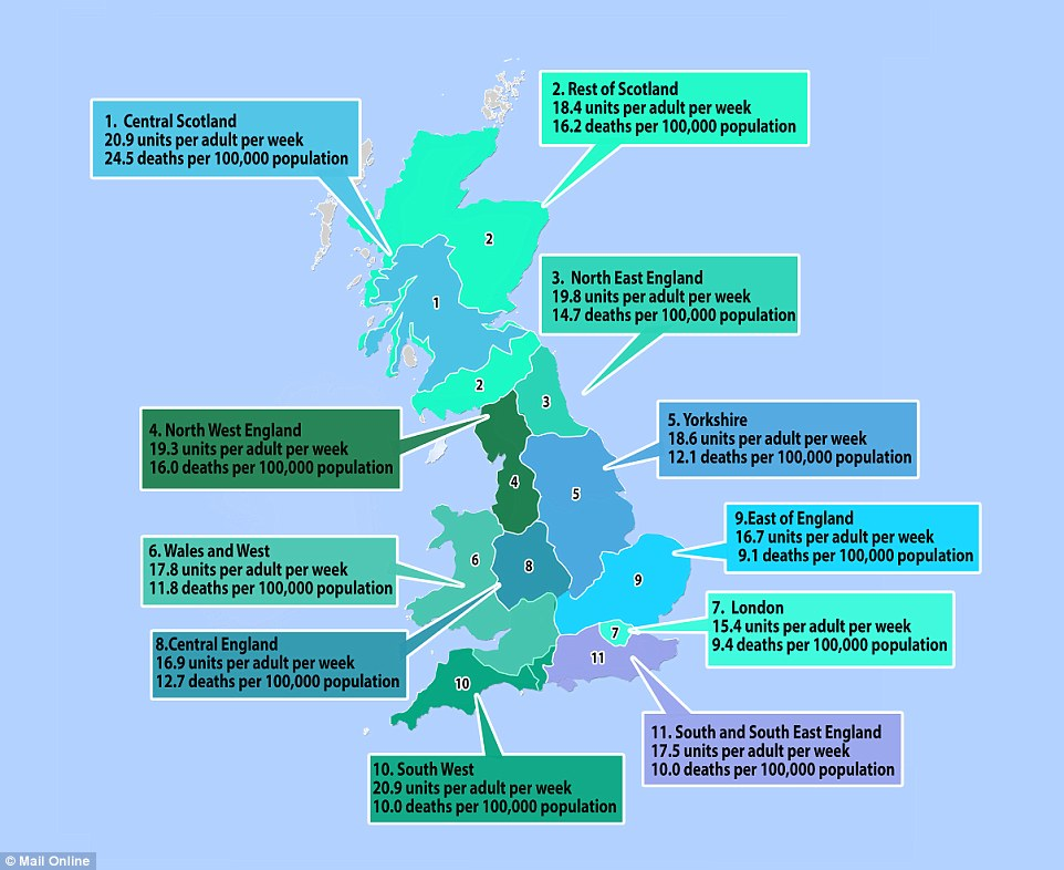 Alcohol Facts And Stats By Region ThingLink - Facts about the west region
