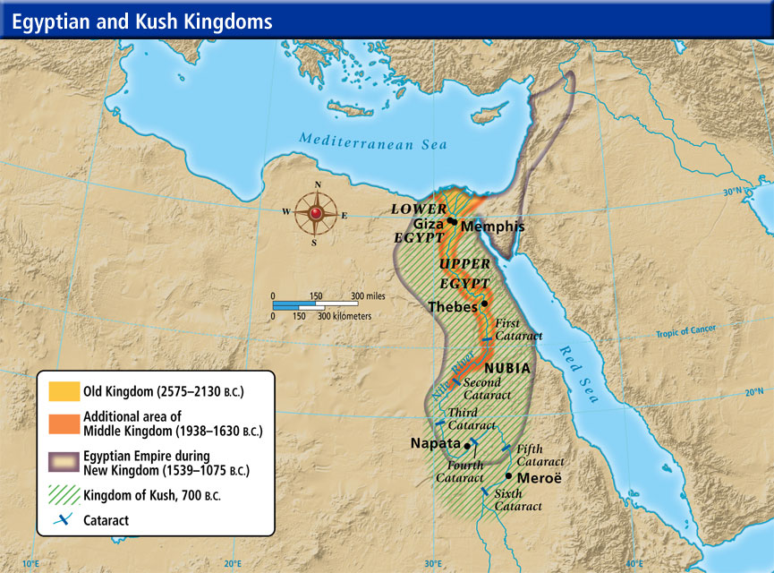 Kingdom Of The Kush ThingLink - Map of egypt during the new kingdom